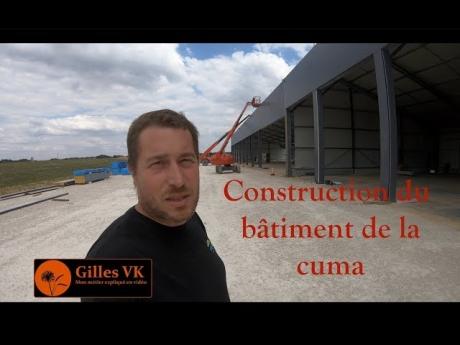 Construction du bâtiment de la cuma et pose des panneaux solaires