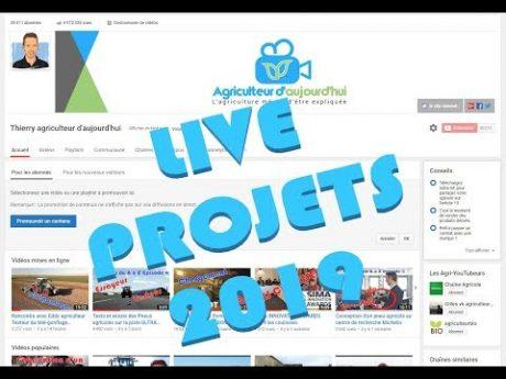 Projets 2019 : vidéos, tutos, emission, formations, autres….
