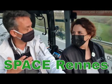 Le space, élevage et innovations : itw tracteur anne marie queemener 🚜