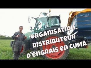 Organisation en cuma spécial distributeur d'engrais.