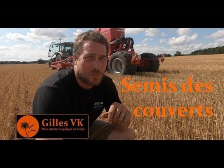 Agriculture de conservation : semis des couverts après moisson