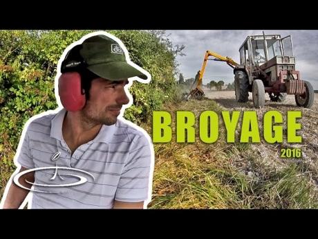 Broyage / fauchage des chemins et bordures de champs – 2016
