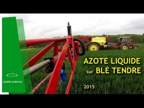 Epandage d'engrais liquide, apport stratégique – 2015