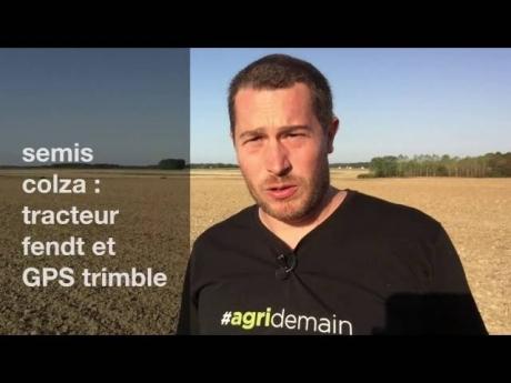 Tracteur fendt et gps trimble pour semis de colza
