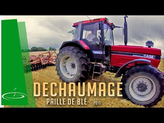 Déchaumage des pailles de blé au cover crop – 2015 [ no comment ]