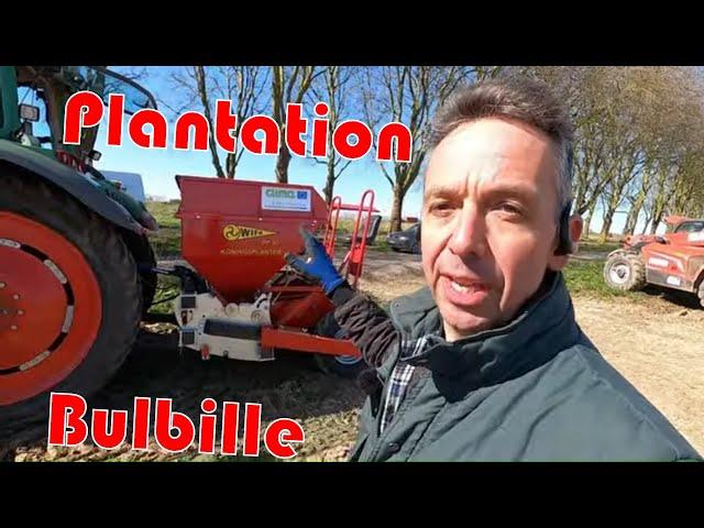 Plantation d'oignon bulbille «wifo» mise en route et réglage.