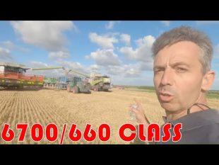 Batteuse essai claas 6700/660 paille et grain