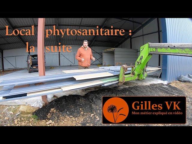 Construction du bâtiment : aménagement local phytosanitaire (suite)