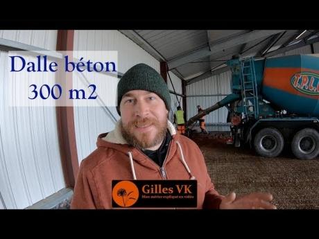 Coulage de la dalle béton de mon hangar 300 m2