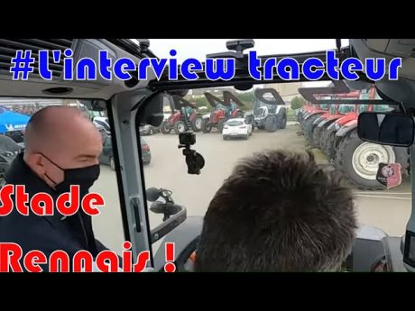 Foot et agriculture⚽ ! : itw tracteur stade rennais 🚜