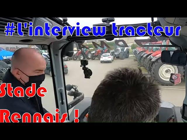 Foot et agriculture⚽ ! : itw tracteur stade rennais 🚜