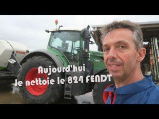 Tracteur fendt 824 : nettoyage