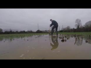 Innondation dans les champs – c'est pas bon !!