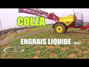 Premier apport d'azote liquide sur le colza – 2016