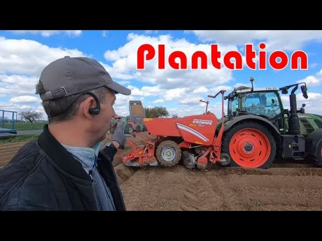 Plantation pdt et incorporation [fendt 720 et grimme gl420]