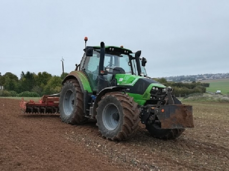 Enfouissage d'amendement naturel | 5m kuhn | deutz 6180 agrotron
