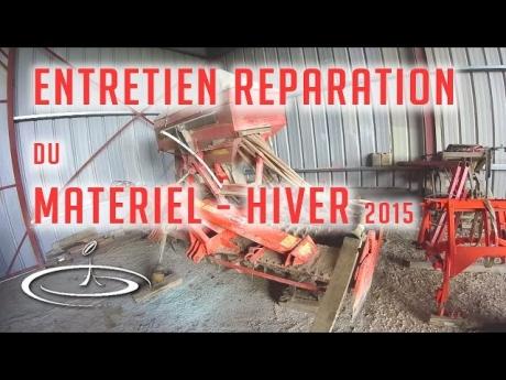 Matériels, entretien et réparation pour l'hiver – 2015