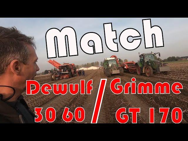 🏁 match arrachage en conditions difficiles 🍪 dewulf 30 60 / grimme gt170 🚜