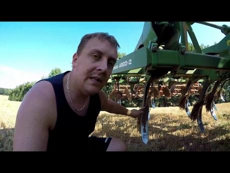 Déchaumage des chaumes de blé
