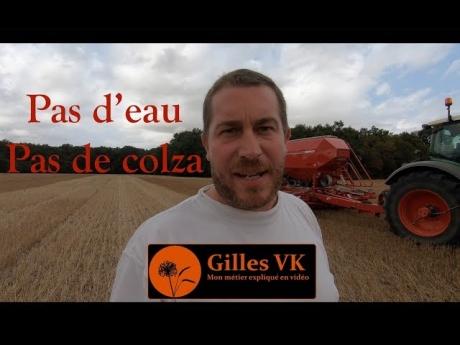 Semis de colza : pas d'eau – pas de colza