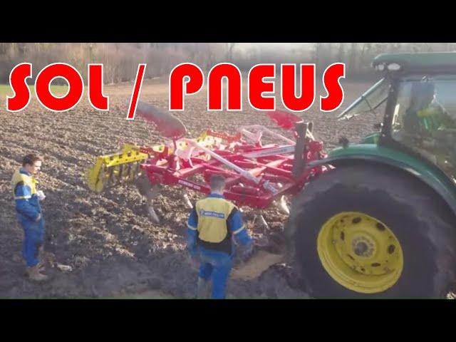 Coupe de sol : conséquences des pressions de pneus sur les sols.