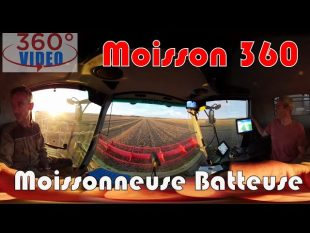 Un tour en moissonneuse batteuse : moisson 360