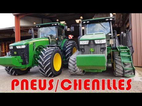 Visite de la🚜 [dams deere farm]🚜 et comparatif pneus/chenilles