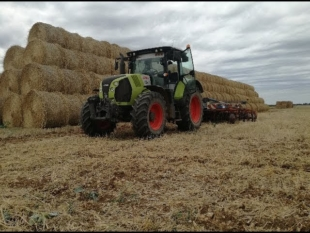 Préparation de sol pour blé – claas arion 540