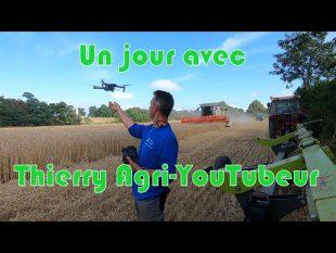 Un jour de moisson🚜 de thierry agri youtubeur 🎥 spécial 50 000 abonnés