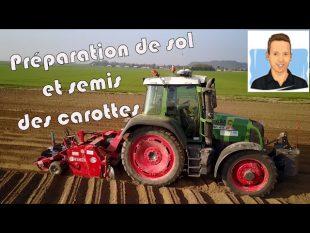 Semis et préparation de sol pour les carottes 2017