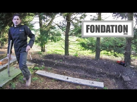Les fondations pour la future plate forme – 2018