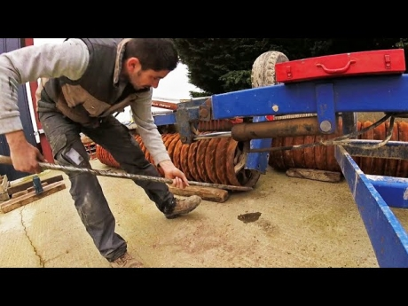 Demontage des rouleaux pour réparation – 2018