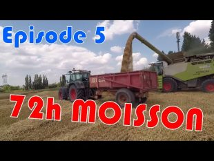 Déchargement paille, battage : 72h moisson épisode 5