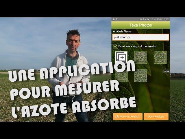 Application mesure d'azote android et ios.